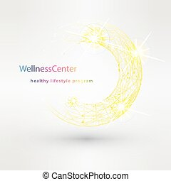 Wellness salon logo design vector template.