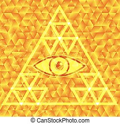 All seeing eye vector illsutration eps 10