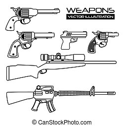 Guns and weapons icon graphic design, vector illustration...