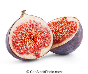 Figs fruits isolated on white background Clipping Path