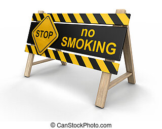 No smoking Sign. Image with clipping path