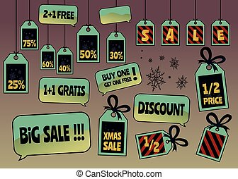 Discount tags and labels