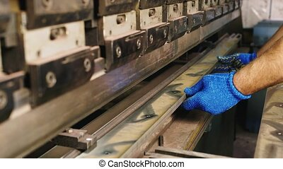 Industrial production - the machine for bending metal