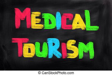 médico, conceito, Turismo