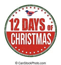 12 Days of Christmas stamp - 12 Days of Christmas grunge...