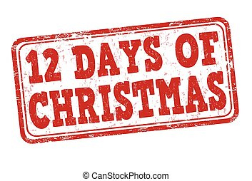 12 Days of Christmas stamp - 12 Days of Christmas grunge...