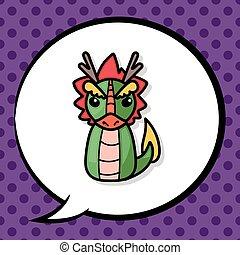 Chinese Zodiac dragon doodle