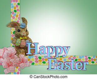 Easter Border with bunny