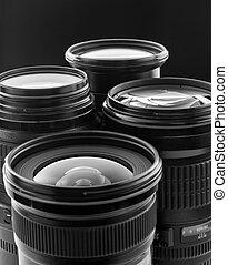 Four digital camera lenses