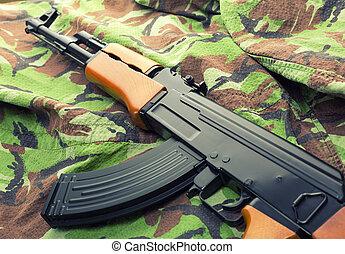 Assault rifle AK-47 - Russian assault rifle AK-47 on...