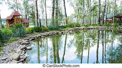 Freshwater marsh in park