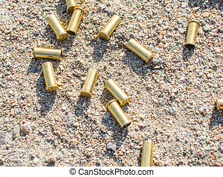 biathlon rifle fired cartridges - biathlon rifle scattered...