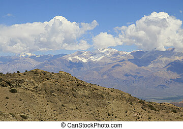 Aconcagua mountain in the Andes in Argentina, near Mendoza....