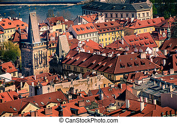 Aerial view of Old Town in Prague, Czech Republic