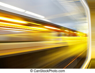 Sensation of speed - background of the high-speed train with...
