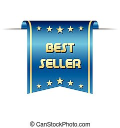 Premium vector best seller ribbon, graphic object for your...