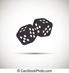 Two simple dices game icon, vector illustration