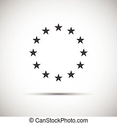 Stars of the European Union, simple vector icons