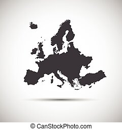 Simple vector illustration map of European Union