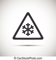 Triangular warning symbol, simple vector illustration of...