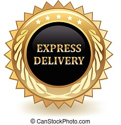 Express Delivery - Express delivery gold badge.