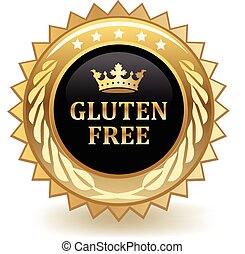 Gluten Free - Gluten free gold badge.