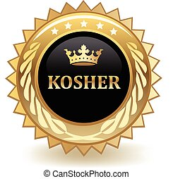 Kosher gold badge.
