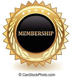 Membership gold badge.