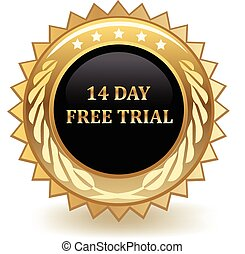 Fourteen Day Free Trial - Fourteen day free trial gold badge...