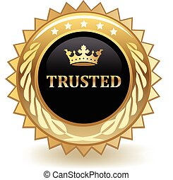 Trusted gold badge.