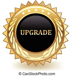 Upgrade gold badge.