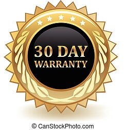 Thirty Day Warranty - Thirty day warranty gold badge