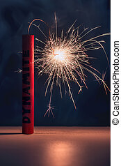 dynamite - conflagrant dynamite stick close up