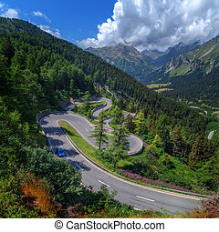 pass - Amazing view of maloja pass, Alps, Switzerland,...