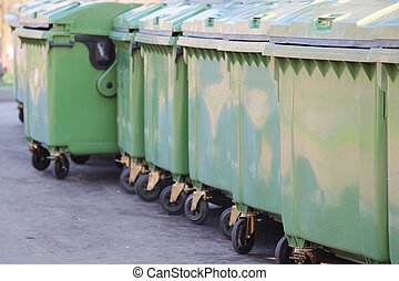 garbage bins - the image of a garbage bins