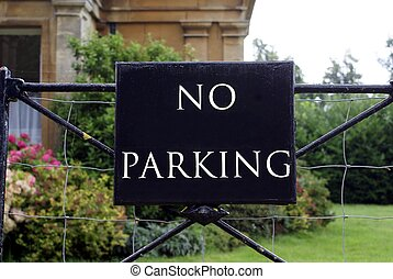 No parking sign - no parking