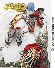 Ice Climbing Gear - safety gear and equipment for ice...