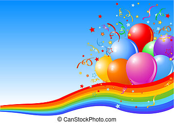 Party balloons background - Vector illustration of Party...