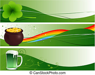 St. Patrick\'s Banners - St. Patrick\'s Day Banners with...