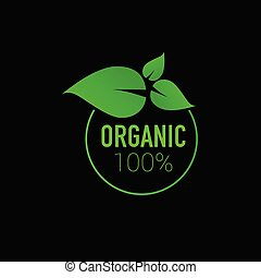 organic icon green vector on black background