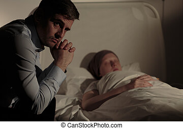Father with child - Photo of anxious father with his...
