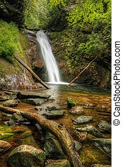 Courthouse Falls just off the Blue Ridge Parkway on hwy 215...