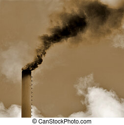 Dirty smoke. Pollution concept.