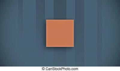 Stylized orange elements animation - Stylized orange solid...