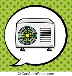 air conditioner doodle