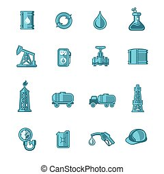 Oil Industry Icons Set