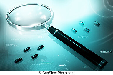 Magnifying Glass - Digital illustration of magnifying glass...