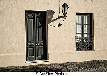 Colonia del Sacramento old town - Detail take of colonial...