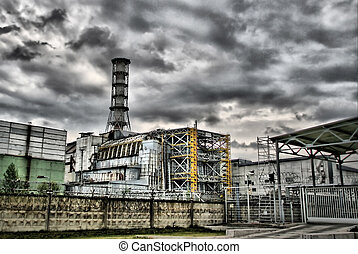 Chernobyl power station - Chernobyl nuclear power station....