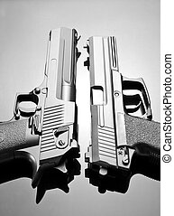Two handguns Desert Eagle and M23 Double Eagle